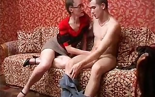 Mila 04 - russian older mature in glassess fucks her young boy
