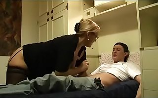 The Nasty aunt and her unarmed little boy! Hot Milf!