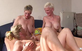 XXX Omas - Foursome fuck for wretched German tow-haired grannies