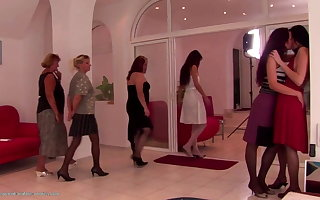 Taboo pissing and fisting with old and young lesbians