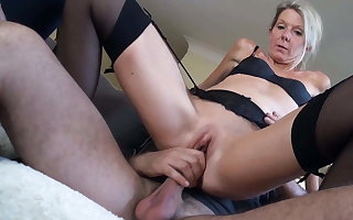 Classy milf Caroline Stines fucked by young stallion