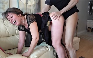 60 year old mature granny enjoyed dirty sex with young dude