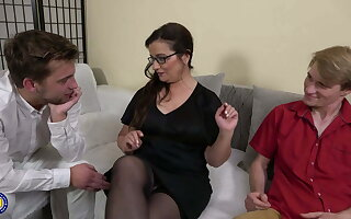 Mature trainer added to two stupid hung boys