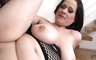 Hardcore interracial fuck for mature with big tits